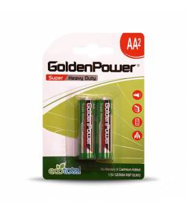 GoldenPower Battery AA*2 Super Heavy Duty باتری قلمی گلدن پاور