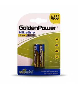 GoldenPower Battery AAA*2 Super Alkaline