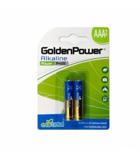GoldenPower Battery LR03 AAA Alkaline Pack Of 2