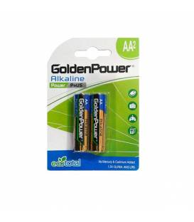 GoldenPower Battery LR6 AA Alkaline Pack Of 2