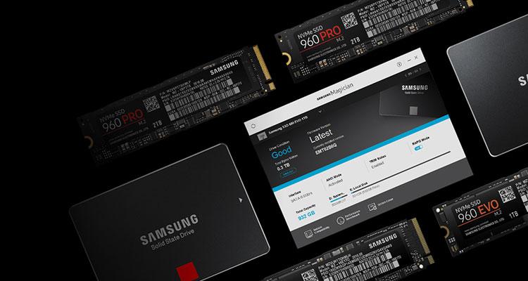 نرم افزار حافظه اس اس دی Samsung Magician